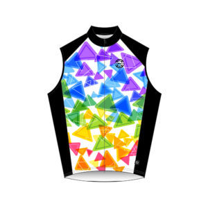 Vest Big Ring Colorful Triangle
