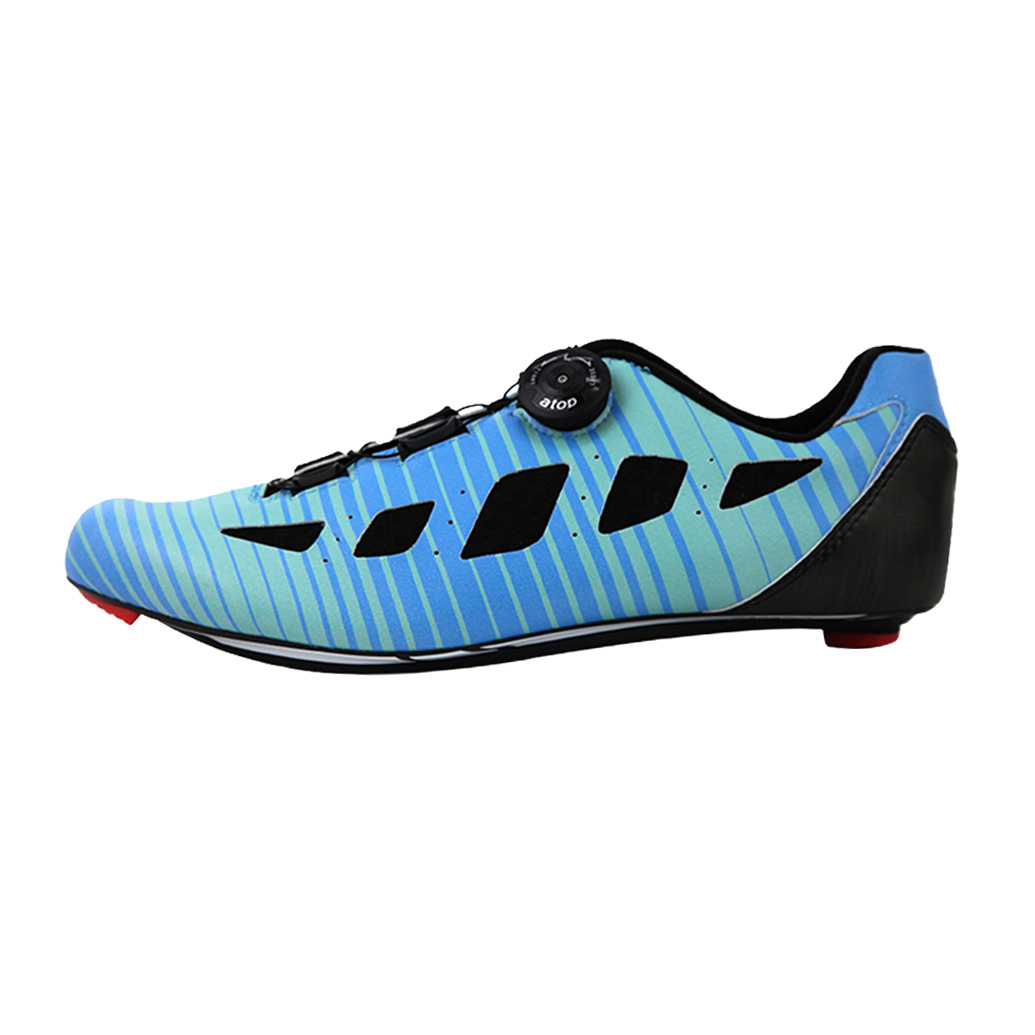 d18cb5f1eab Bicycle Shoe Carbon Customized Big Ring Ride Amplify Aqua  Blue ...